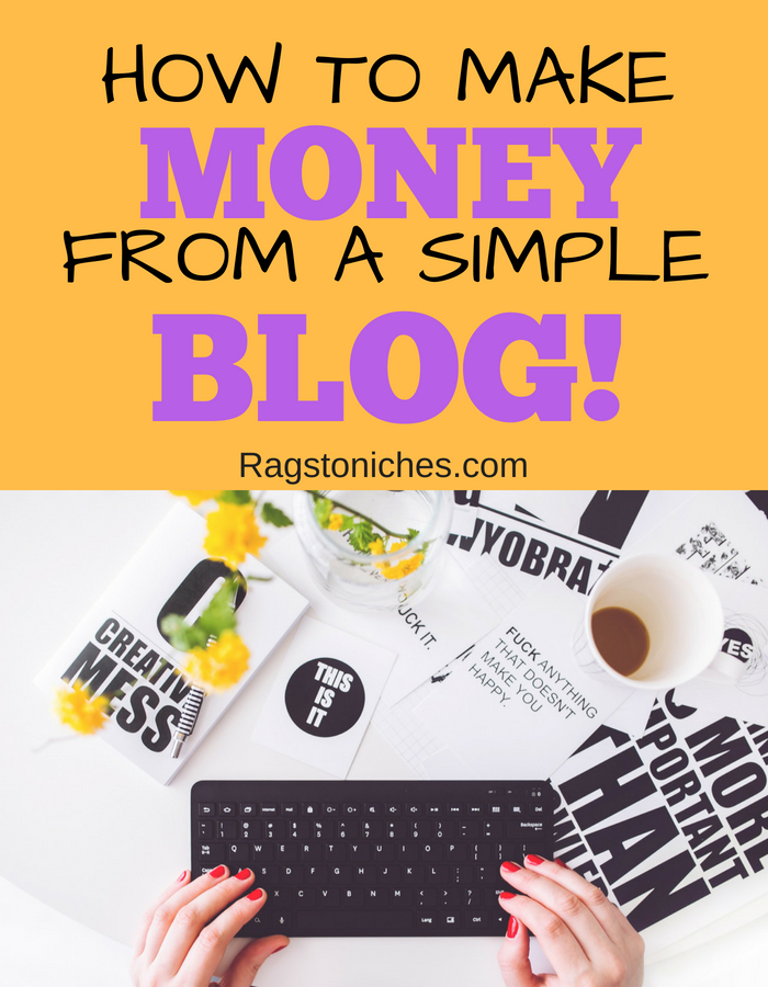 how to make money from a simple blog