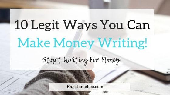10 legit ways you can make money writing