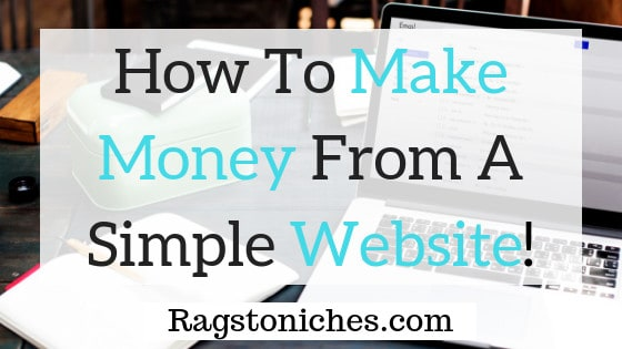 how to make money from a simple website or blog