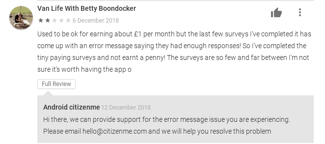 citizenme app complaints