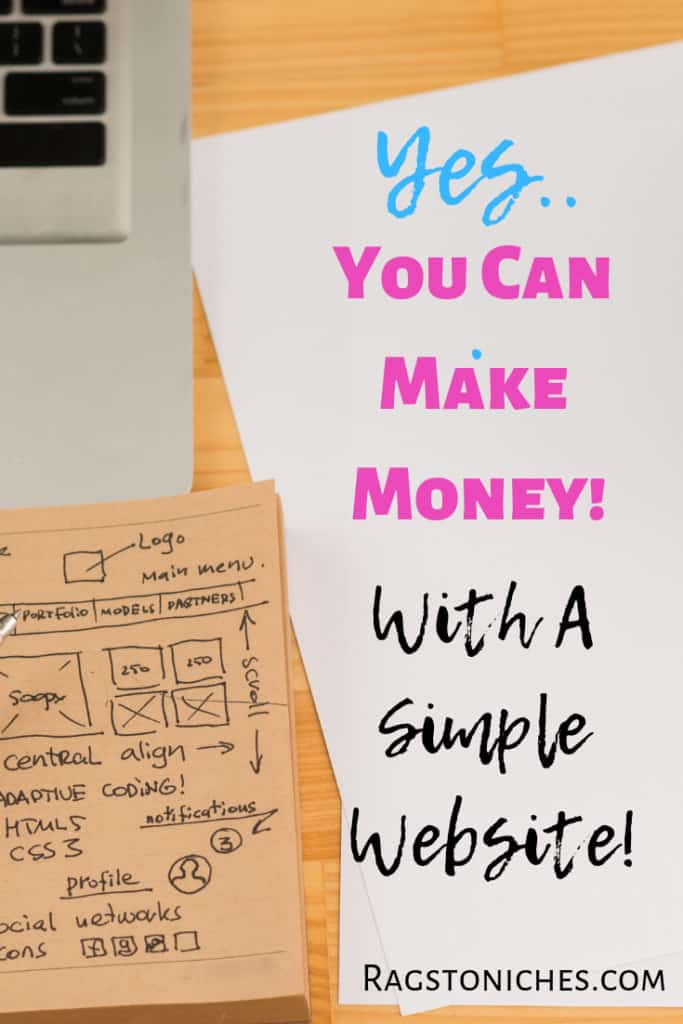how to make money with a simple website