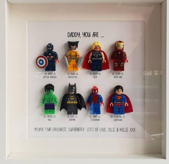 superhero lego frame