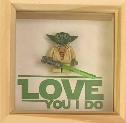 Yoda love you frame