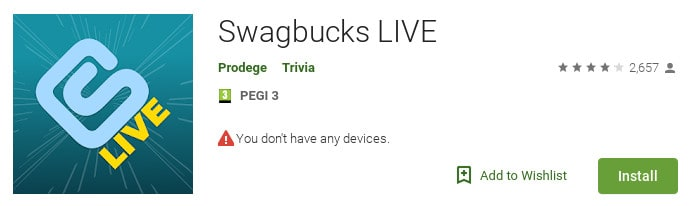 Swagbucks live google play