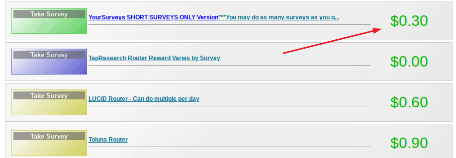 QuickRewards survey routers, how much can you make with QuickRewards.