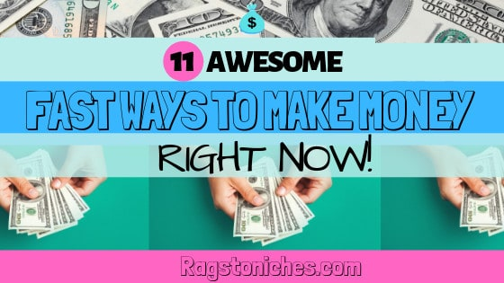 How to make money fast online right now!