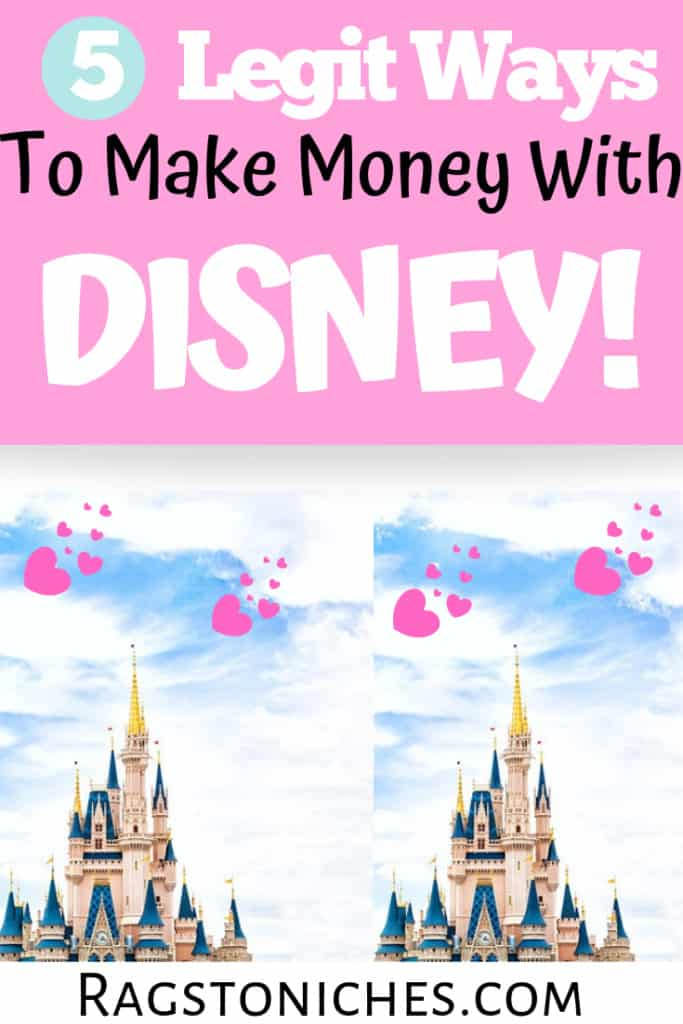 legit ways to make money with Disney online!