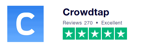 Trustpilot Crowdtap review 5.0 stars