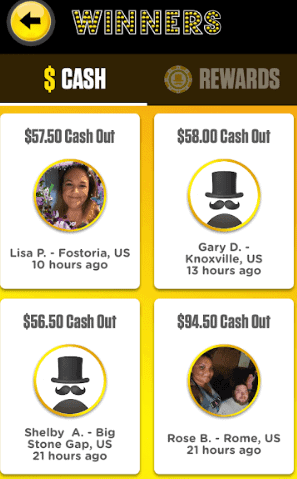 Lucky Day App winners page