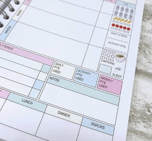 weight watchers personal planner