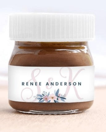 Personalised nutella jar sticker from Etsy