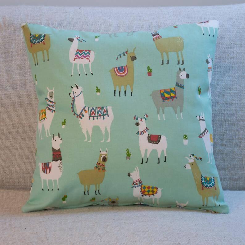 funny llama pillow etsy