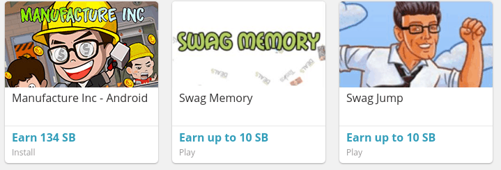 Swagbucks apps and games