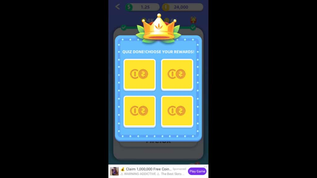 Lucky Now App Quiz Game