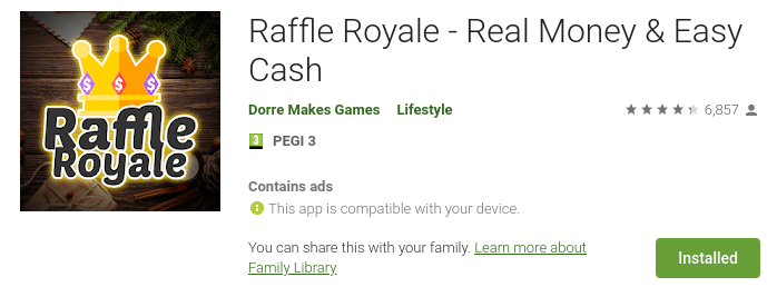google pay raffle royale review
