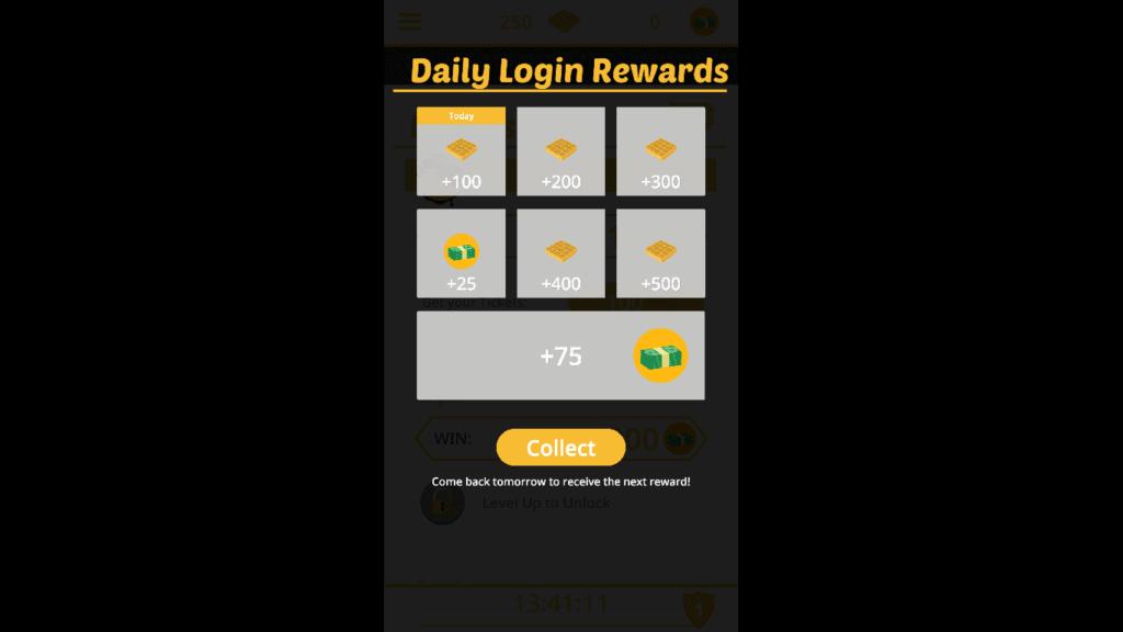Waffle raffle daily rewards