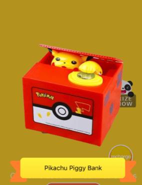 claw toy app pikachu money machine