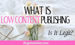 what is low content publishing is it legit