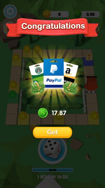 Happy Dice I won money