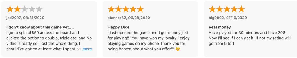 Happy Dice App App Store Review
