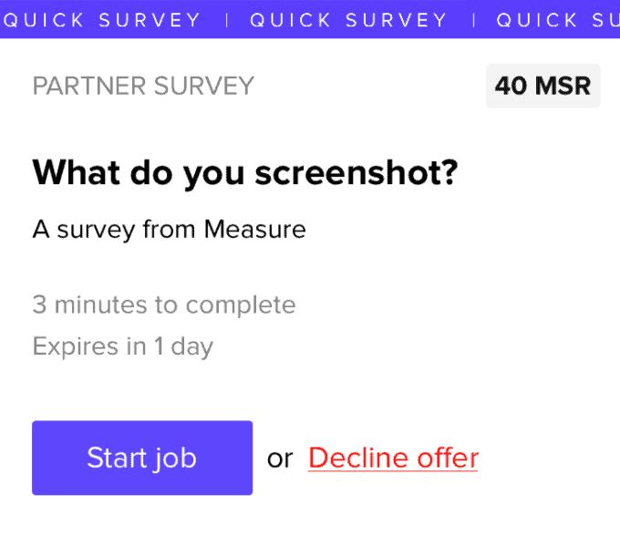 MSR survey app
