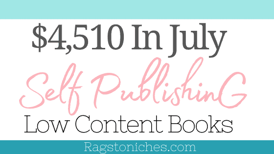 KDP income report july 2021 amazon kindle direct publishing